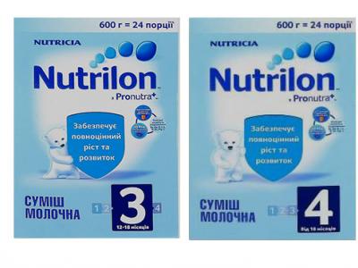Дитячі молочні суміші від ТМ Nutrilon.