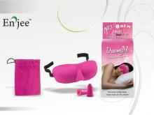 МАСКА для сну рожева із берушами + дорожній мішок