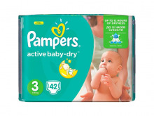 ПАМПЕРС підгузки дит. Active Baby-Dry Midi 5-9 кг №42