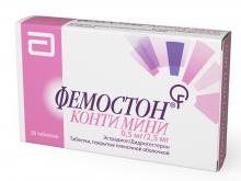 ФЕМОСТОН КОНТІ МІНІ табл. в/о 0,5мг/2,5мг №28