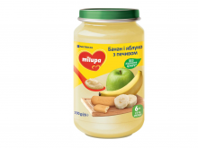 ДХ Milupa пюре банан і яблуко з печивом 190г