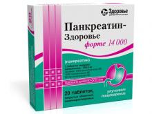 ПАНКРЕАТИН ФОРТЕ табл. №20*