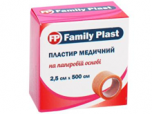 ЛЕЙКОПЛ. ФЕМЕЛІ ПЛАСТ 2,5см*5м н/ткан. осн.