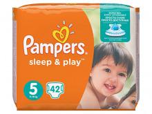 ПАМПЕРС підгузки дит. Sleep & Play Junior 11-16кг №42