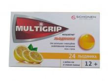 МУЛЬТИГРИП льодяники мед-лимон №24