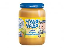 ДХ ЧУДО-ЧАДО пюре фрукт. яблуко -морква-айва 170г